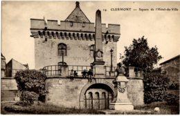 14- Clermont (Oise) - Square De L'Hotel De Ville - Clermont