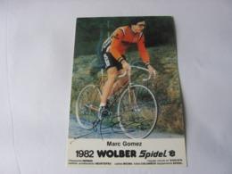 Cyclisme - Autographe - Carte Signée  Marc Gomez - Cyclisme