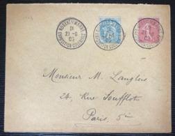 Lettre De L'expo Coloniale De Nogent S Marne Du 21 Juin 1905 Avec Blanc & Semeuse - 1900-29 Blanc