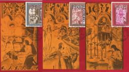 J) 1968 ANDORRA, RETURN OF SAINT JEAN DE CASELLES, SET OF 3 POSTCARD - Stamps
