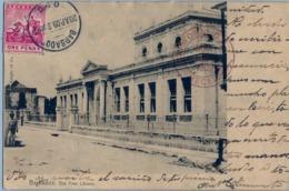1909 BARBADOS , TARJETA POSTAL CIRCULADA , BARBADOS - CRISTOBAL ( CANAL ZONE ) PANAMÁ , LLEGADA, THE FREE LIBRARY - Barbados (1966-...)