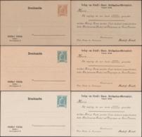Autriche 1904. 3 Entiers Postaux Publicitaires. Rudolf Friedl (1862-1942), Marchand De Timbres (négociant En Philatélie) - Philately & Coins