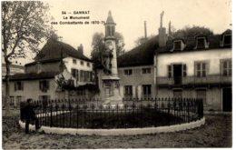 54- Gannat - Le Monument Des Combattants De 1870-71 - Francia