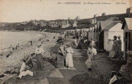 CPA 22 PERROS GUIREC TRESTRAOU La Plage Et Les Cabanes - Perros-Guirec