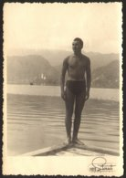 Handsome Naked Trunk Man Guy On Each GAY INT Old Photo 9x14 Cm #27352 - Personnes Anonymes