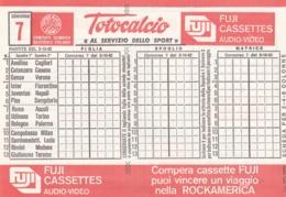 SCHEDINA TOTOCALCIO - CONCORSO 7 - COMITATO OLIMPICO NAZIONALE ITALIANO -  ANNO. 1982 - Vecchi Documenti