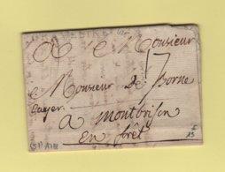 Graveline - Nord - 1788 - Courrier Pour Montbrison En Foret - 1701-1800: Precursors XVIII