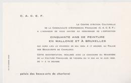 Charleroi, Invitation 1969. - Tickets D'entrée