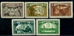 1932 Legends,Krihvs Under The Sacred Oak,Lāčplēsis,Riga,Letonia,Latvia,193A,MLH - Lettland