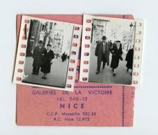 Rue Street Marcheur Passant Contact Ticket NICE Studio Cineclair 58 Avenue Victoire Photographe - Personnes Anonymes