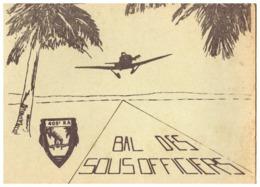 BAL DES SOUS-OFFICIERS  405° RA        BOISSONS -BUFFET FROID   CARTE DOUBLE - Documents