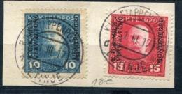 MONTENEGRO - OCCUPATION AUTRICHE-HONGRIE - N° 1 & 2 / FRAGT. OBL. MILITAIRE DU 1/3/1917 - SUP - Montenegro