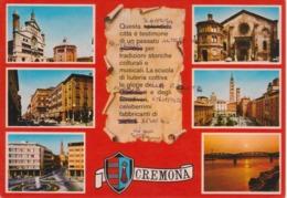CREMONA - VEDUTINE MULTIVUES - VIAGGIATA 1983 - Cremona