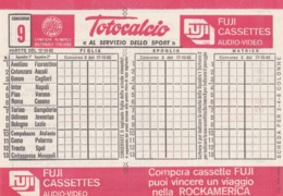 SCHEDINA TOTOCALCIO - CONCORSO 9 - COMITATO OLIMPICO NAZIONALE ITALIANO -  ANNO. 1982 - Vecchi Documenti