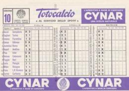 SCHEDINA TOTOCALCIO - CONCORSO 10 - COMITATO OLIMPICO NAZIONALE ITALIANO -  ANNO. 1982 - Vecchi Documenti