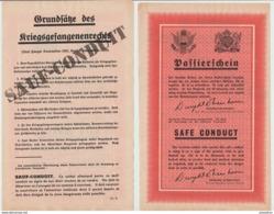 Guerre 1945- Sauf Conduit Pour Soldats Allemands Se Rendant Aux Troupes Alliées  6 00  Nb9 - 1939-45