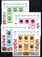Jamaica, 1981, Royal Wedding, 4 Sheets  Flowers Orchids - Orchideeën