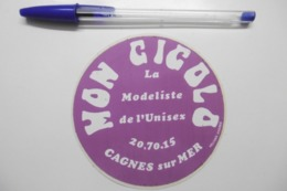"""Autocollant Stickers - CAGNES SUR MER """"MON GIGOLO"""" La Modéliste De L'Unisex 06 ALPES MARITIMES - Autocollants"""