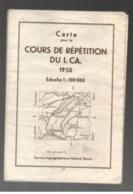 Carte Pour La Répétition Du I. CA. 1950 Echelle 1:100000 Service Topographique Fédéral Berne - Topographical Maps