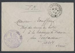 France Lettre En  Trésor Et Poste 141 66 ème Div D' Infanterie Du 17/7/1915 Vers Paris - WW I