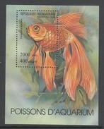 BLOC NEUF DE MADAGASCAR - POISSON D'AQUARIUM : CARASSIUS AURATUS N° Y&T 97 - Poissons