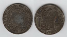 France Ecu De Six Livres 1793 A; Faux 26.8gr; République Françoise - 1789-1795 Periode Franse Revolutie