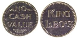 01052 GETTONE JETON TOKEN AMUSEMENT PARK KING LEO'S NO CASH VALUE - USA