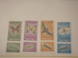 ISRAELE - 1965 FARFALLE 4 VALORI - NUOVI(++) - Nuovi (con Tab)