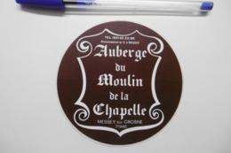 Autocollant Stickers - Restaurant Auberge Du Moulin De La Chapelle à MESSEY SUR GROSNE 71 SAÔNE-et-LOIRE - Autocollants