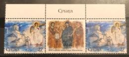 Serbia ,2019, 800 Years Mileseva Monastery, Pair With Label (MNH) - Serbien
