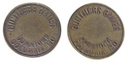 01056 GETTONE JETON TOKEN GAMING TOKEN GUNTHERS GAMES  DOWNTOWN COLUMBIA - USA