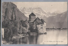 CH.- J.J.3F CHILLON Et La DENT DU MIDI. 1914 - GE Genève