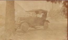 PHOTO ORIGINALE BAMAKO 1921 ET AUTOMOBILE FORMAT  11 X 6.50 CM - Lugares