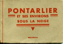 N°77530 -carnet Pontarlier Et Ses Environs Sous La Neige - Pontarlier