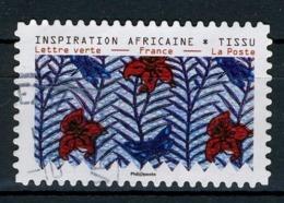 FRANCE 2019 / TISSUS AFRICAINS OBL.ronde - Adhésifs (autocollants)