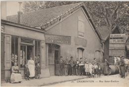 Charenton  94   La Rue Saint-Emilion Tres Tres Animée -Epicerie Et AUBRY & FILS Camionnages Et Attelage - Charenton Le Pont