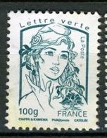 FRANCE 2015 / MARIANNES CIAPPA KAWENA LETTRE VERTE 100g Obl. - 2013-... Marianne (Ciappa-Kawena)