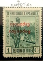 Guinea N 230hi. Con Charnela. - Spanish Guinea