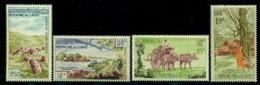 Laos 1960 Tourism,Ox Cart,Waterfall,Buddhist Monk,Plain Of Jars,M.105-8,MNH - Farm