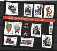 France 2011 Bloc Feuillet F4582 Neuf Luxe. Sapeurs Pompiers De Paris à La Faciale - Blocchi & Foglietti