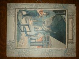 Protège Cahier XIXème : L'intérieur D'une Verrerie - Manuscrits