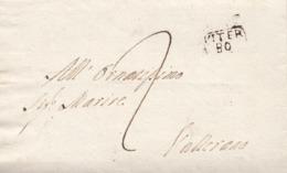 PRE420- PREFILATELICA -Lettera Con Testo Del 10 Febbraio 1810 Da Vetralla A Vallarano (Viterbo) , Tassata 2 Baj - Italia