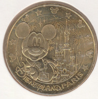 MONNAIE DE PARIS 77 MARNE-LA-VALLEE Disneyland Resort Paris - Mickey - Le Château Et Le Feu D'Artifice  - 2016 - Monnaie De Paris