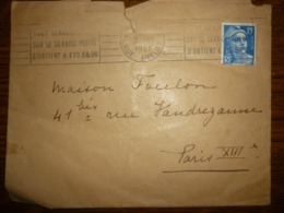 Enveloppe Timbrée, Oblitérée 1951 - Postmark Collection (Covers)