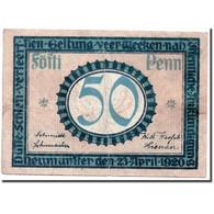 Billet, Allemagne, Neumühlen, 50 Pfennig, Batiment, 1920, 1920-04-23, SPL - Andere