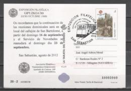TARJETA ENTERO POSTAL 1999. LA TARJETA DEL CORREO, 125 Aniv. Exp. Fil. GIPUZKOA'99, Jacobeo 99. Circulada, Nº70. - 1931-....