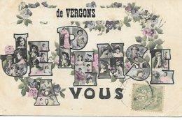 JE PENSE A VOUS DE VERGONS 1907 - Andere Gemeenten