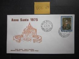 VCC 07  VATICAN CITY 1974 HOLY YEAR 25L VALUE, SOUVENIR? COVER - FDC