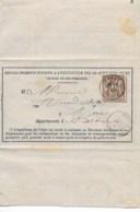 Formulaire Cad MORAS  29 Juil 1877 Sur 20ctmes Sage  TTB - Postmark Collection (Covers)