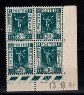 Coin Daté - YV 323 N** Exposition Internationale, Coin Daté Du 13.10.36 - Angoli Datati